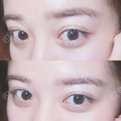 纹绣手绘眼睛眉毛素描