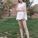 通过大腿吸脂术后,姑娘说以前不管怎么穿都看不出苗条的感觉,但是现在,想怎么穿就怎么穿了,现在腿型好看...
